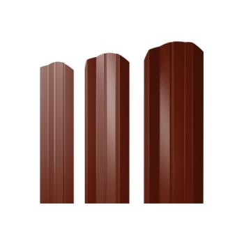 Штакетник М-образный А фигурный 0,45 PE RAL 3005 красное вино
