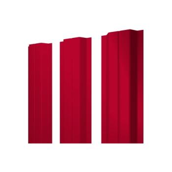 Штакетник П-образный А 0,45 PE RAL 3003 рубиново-красный