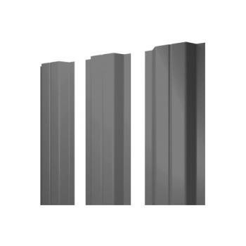 Штакетник П-образный А 0,45 PE RAL 7004 сигнальный серый