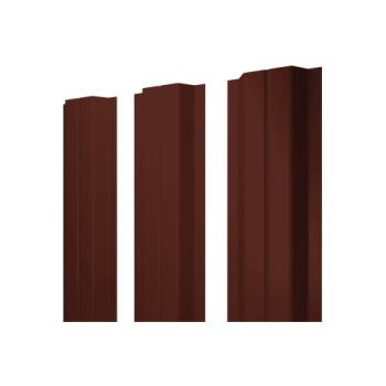 Штакетник П-образный А 0,45 двухсторонний RAL 8017 шоколад