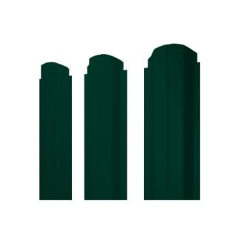 Штакетник П-образный А фигурный 0,45 Двухсторонний RAL 6005 зеленый мох