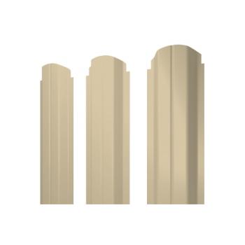 Штакетник П-образный А фигурный 0,45 PE RAL 1015 светлая слоновая кость