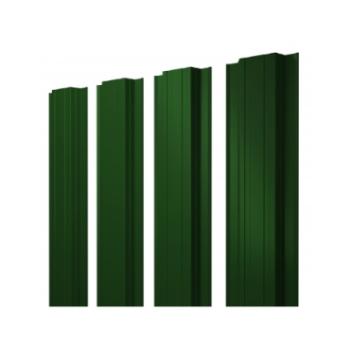 Штакетник Прямоугольный 0,45 PE RAL 6005 зеленый мох