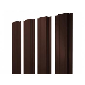 Штакетник Прямоугольный 0,45 PE-двухсторониий RAL 8017 шоколад (1,8м)