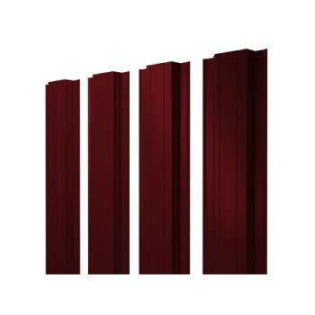 Штакетник Прямоугольный 0,45 PE двухсторонний RAL 3005 красное вино