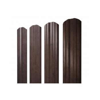Штакетник Twin фигурный 0,45 Print Twincolor РФ Antique Wood