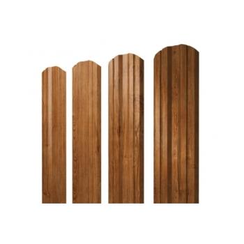 Штакетник Twin фигурный 0,45 Print Twincolor РФ Golden Wood
