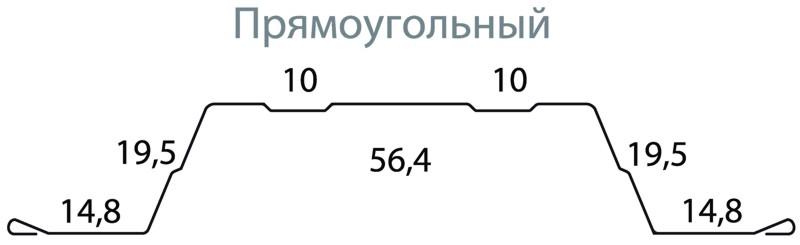 чертеж прямоугольного штакетника