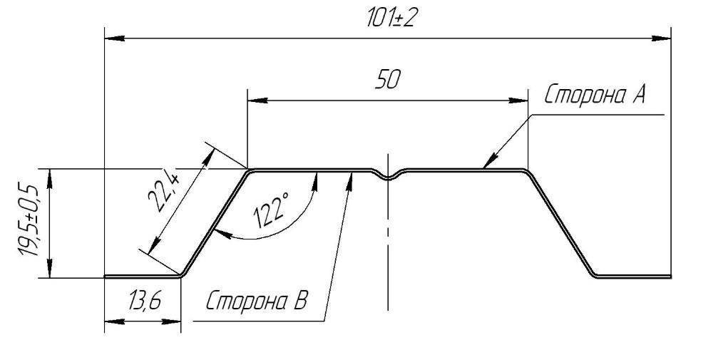чертеж штакетника п-образного