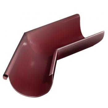 Угол желоба внешний 135 гр 125 мм RAL 3005 красное вино