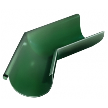Угол желоба внешний 135 гр 125 мм RAL 6005 зеленый мох
