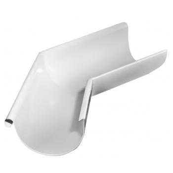 Угол желоба внешний 135 гр 125 мм RAL 9003 сигнальный белый