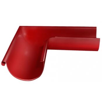 Угол желоба внешний 90 гр 125 мм RAL 3011 коричнево-красный