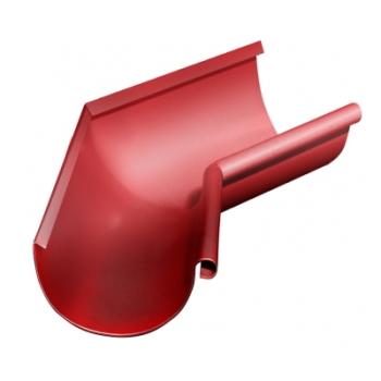 Угол желоба внутренний 135 гр 125 мм RAL 3011 коричнево-красный
