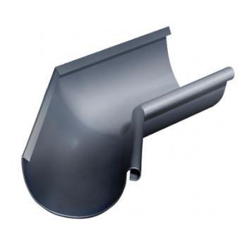 Угол желоба внутренний 135 гр 125 мм RAL 7024 мокрый асфальт