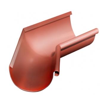 Угол желоба внутренний 135 гр 125 мм RAL 8004 терракота