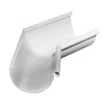 Угол желоба внутренний 135 гр 125 мм RAL 9003 сигнальный белый