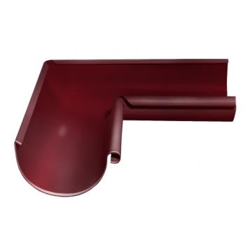 Угол желоба внутренний 90 гр 125 мм RAL 3005 красное вино
