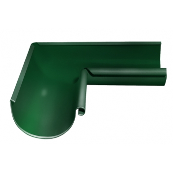 Угол желоба внутренний 90 гр 125 мм RAL 6005 зеленый мох