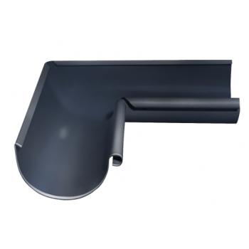 Угол желоба внутренний 90 гр 125 мм RAL 7024 мокрый асфальт