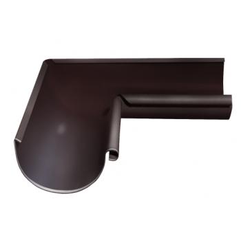 Угол желоба внутренний 90 гр 125 мм RAL 8017 шоколад