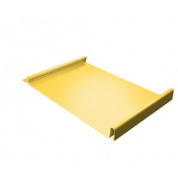 Кликфальц 0,45 PE с пленкой RAL 1018 желтый цинк