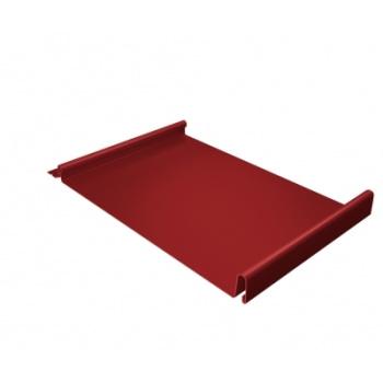 Кликфальц 0,45 PE с пленкой на замках RAL 3003 рубиново-красный