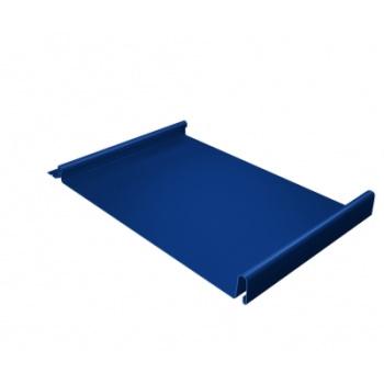 Кликфальц 0,5 PE с пленкой на замках RAL 5005 сигнальный синий