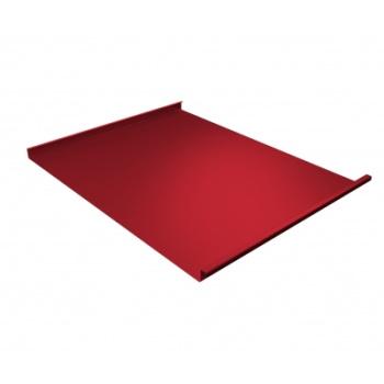 Фальц двойной стоячий 0,45 PE с пленкой на замках RAL 3003 рубиново-красный