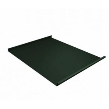 Фальц двойной стоячий 0,5 GreenCoat Pural Matt с пленкой на замках RR 11 темно-зеленый (RAL 6020 хромовая зелень)