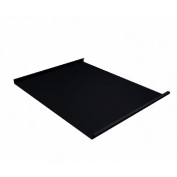 Фальц двойной стоячий 0,5 с пленкой на замках RAL 9005 черный