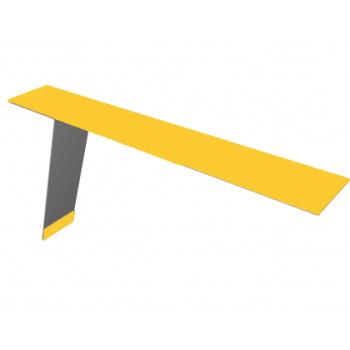 Планка карнизная для фальцевой кровли 130х80 RAL 1018 желтый цинк