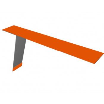 Планка карнизная для фальцевой кровли 130х80 RAL 2004 Оранжевый