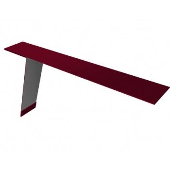 Планка карнизная для фальцевой кровли 130х80 RAL 3003 рубиново-красный