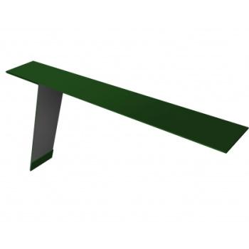 Планка карнизная для фальцевой кровли 130х80 RAL 6002 лиственно-зеленый