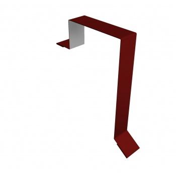 Планка торцевая фальц 60х97 RAL 3011 коричнево-красный