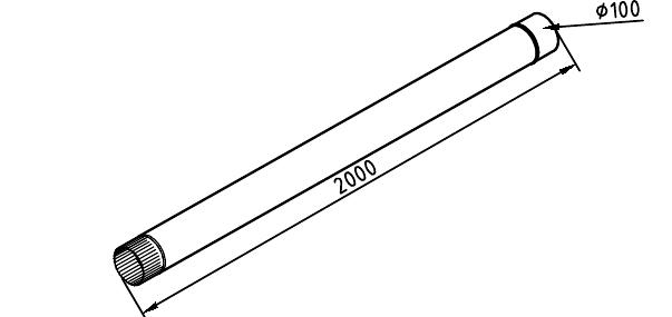 Чертеж трубы водосточной 100 мм оцинкованной 2 метра