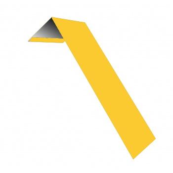 Лобовые планки для кровли в цвете RAL 1018 цинково-желтый