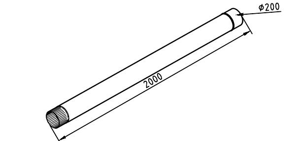 Чертеж трубы водосточной 200 мм оцинкованной 2000 мм