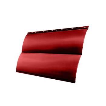 Металлосайдинг Блок-хаус 0,390 GL 0,45 PE с пленкой RAL 3003 рубиново-красный