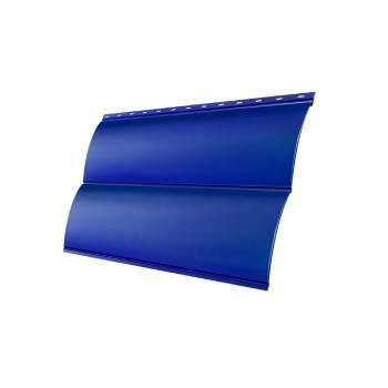 Сталь Блок-хаус 0,390 0,5 Satin с пленкой RAL 5005 сигнальный синий