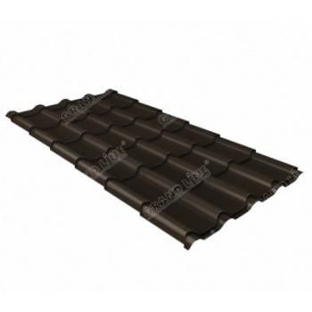 Металлочерепица камея RR 32 темно-коричневый