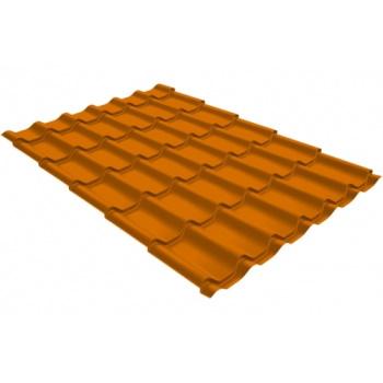 Металлочерепица классик PE RAL 2004 оранжевый
