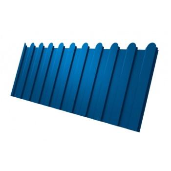 Профнастил С8 фигурный RAL 5005 сигнальный синий