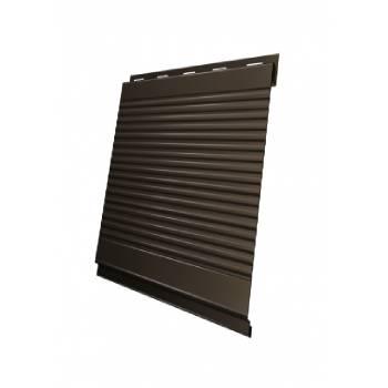 Вертикаль 0,2 Grand Line gofr 0,5 GreenCoat Pural BT, matt с пленкой RR 32 темно-коричневый (RAL 8019 серо-коричневый)