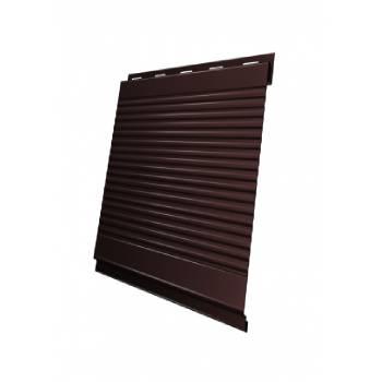 Вертикаль 0,2 Grand Line gofr 0,5 Quarzit Pro Matt с пленкой RAL 8017 шоколад