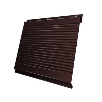 Вертикаль 0,2 Grand Line gofr 0,5 Quarzit lite с пленкой RAL 8017 шоколад