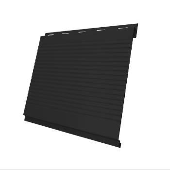 Вертикаль 0,2 Grand Line gofr 0,5 Quarzit lite с пленкой RAL 9005 черный