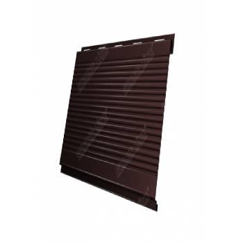 Вертикаль 0,2 Grand Line gofr 0,5 Quarzit с пленкой RAL 8017 шоколад