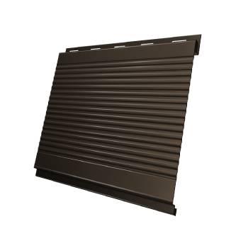 Вертикаль 0,2 Grand Line gofr 0,5 Quarzit с пленкой RR 32 темно-коричневый